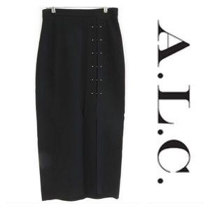 A.L.C pinned slit skirt